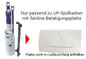 Geberit Impuls Heberglocke Glocke Spülgarnitur Ablauf UP-Spülkasten 1998-2004